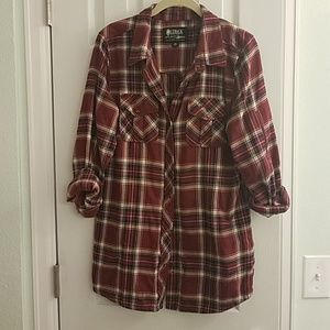 Tops - Tunic length flannel